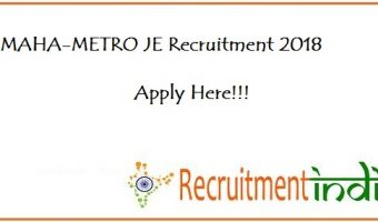 MAHA-METRO JE Recruitment