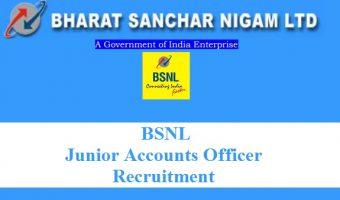 BSNL JAO Recruitment 2017- Apply 996 BSNL Junior Accounts Office Job Vacancies