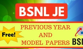 BSNL JE Previous Papers 2017 | Check  5 years Junior Engineer Solved Question Papers