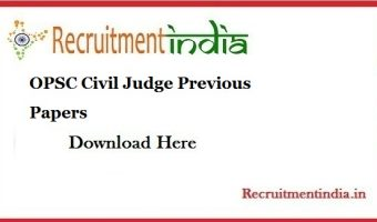 OPSC Civil Judge Previous Papers || Download Odisha Civil Judge (Judicial Service) Exam Model Papers @ www.opsc.gov.in