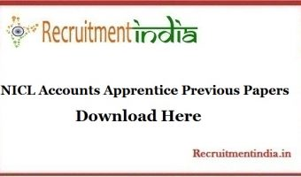 NICL Accounts Apprentice Previous Papers || Download Accounts Apprentice Model Papers @ nationalinsuranceindia.nic.co.in